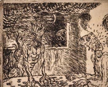 James Ensor, L'Avarice, Galerie Internationale d'Art Moderne Ca' Pesaro à Venise Italie