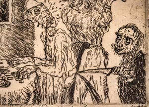 James Ensor, L'Avarice, Galerie Internationale d'Art Moderne Ca' Pesaro à Venise Italie