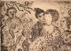 James Ensor, L'Envie, Galerie Internationale d'Art Moderne Ca' Pesaro à Venise Italie