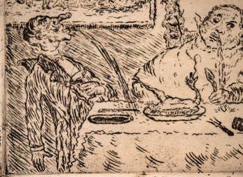 James Ensor, La Gourmandise, Galerie Internationale d'Art Moderne Ca' Pesaro à Venise Italie