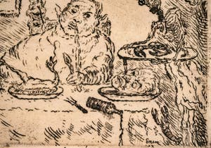 James Ensor, La Gourmandise, Galerie Internationale d'Art Moderne Ca' Pesaro à Venise Italie