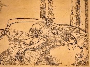 James Ensor, La Luxure, Galerie Internationale d'Art Moderne Ca' Pesaro à Venise Italie
