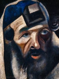 Marc Chagall, Le Rabbin de Vitebsk, Galerie Internationale d'Art Moderne Ca' Pesaro à Venise en Italie
