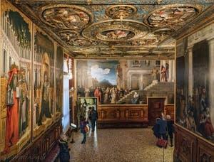 La salle de l'Albergo du musée Galerie de l'Accademia, l'Accadémie de Venise