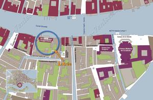 Plan de Situation du Musée Peggy Guggenheim à Venise Italie
