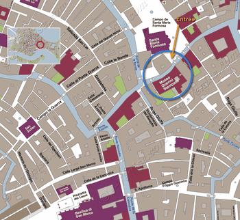 Plan de Situation du Musée Palais Querini Stampalia à Venise Italie