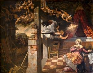 Le Tintoret, L'Annonciation, Scuola Grande San Rocco à Venise