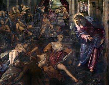 Le Tintoret, Jacopo Robusti, La Piscine Probatique à la Scuola Grande San Rocco à Venise