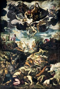 Le Tintoret, L'érection du Serpent de Bronze à la Scuola Grande San Rocco à Venise