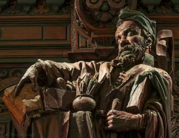 Francesco Pianta Le Jeune, Le Peintre, portrait du Tintoret, Scuola Grande San Rocco à Venise