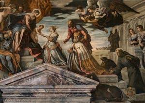 Le Tintoret, Noces Mystiques de Sainte-Catherine et du Doge Francesco Donato en vénération, Palais des Doges de Venise