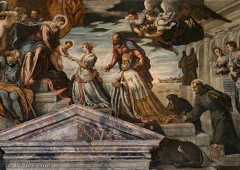 Le Tintoret, Noces Mystiques de sainte Catherine et du Doge Francesco Donato en vénération, Palais des Doges de Venise