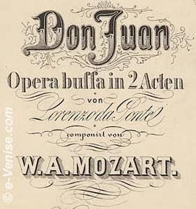 Da Ponte Livret de Don Juan de Mozart
