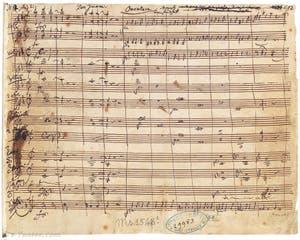 Livret manuscript du Don Juan de Mozart