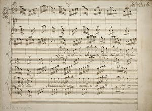 Partition manuscrite d'Antonio Vivaldi, air Allegro pour viole