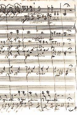 Manuscrit Don Juan Mozart BNF