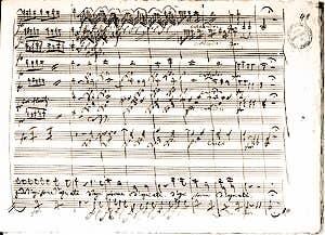 Manuscrit Don Juan Mozart