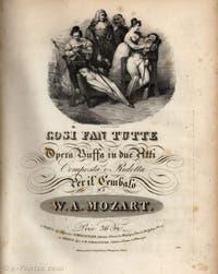 Le livret de Cosi Fan Tutte de Wolfgang Amadeus Mozart et Lorenzo Da Ponte