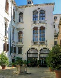 La cour du Palazzo Vendramin Calergi à Venise, là où est mort Richard Wagner