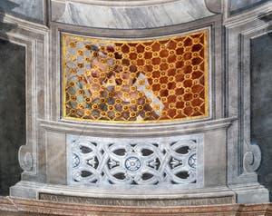 Jacopo Guarana et Agostino Mengozzi Colonna, Jeunes filles derrière la grille de la Salle de la Musique, Sala della Musica de l'Ospedaletto dei Derelitti à Venise en Italie