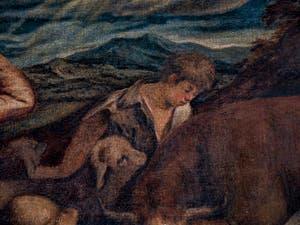 Bassano, L'Ange annonce la naissance du Christ aux bergers endormis, salon de l'Atrium carré du Palais des Doges à Venise