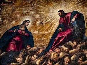 Le Paradis de Tintoret, la Vierge Marie et Jésus-Crhist au Palais des Doges à Venise