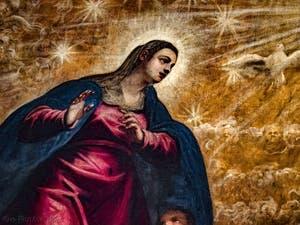 Le Paradis de Tintoret, la Vierge Marie et le Paraclet, au Palais des Doges de Venise