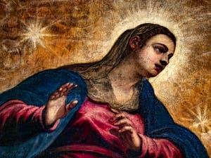 Le Paradis de Tintoret et la Vierge Marie, au Palais des Doges de Venise