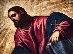 Le Paradis de Tintoret, Jésus-Christ, au Palais des Doges de Venise