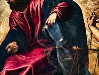 Le Paradis de Tintoret, le Christ et le globe terrestre de cristal, au Palais des Doges de Venise