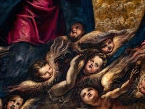 Le Paradis de Tintoret et les anges Chérubins, au Palais des Doges de Venise