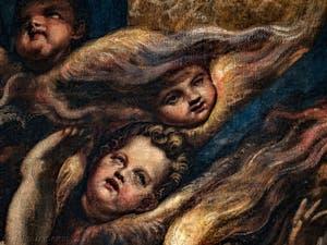 Les anges Chérubins du Paradis de Tintoret au Palais des Doges de Venise