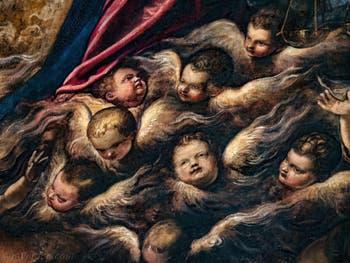 Le Paradis de Tintoret, les Chérubins, au Palais des Doges de Venise