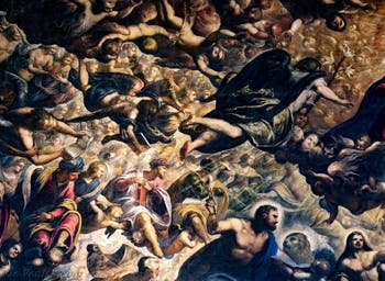 Le Paradis de Tintoret, anges Chérubins et Séraphins, au Palais des Doges de Venise