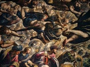 Les anges Chérubins et Séraphins du Paradis de Tintoret au Palais des Doges de Venise