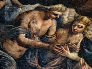 Le Paradis de Tintoret avec les Chérubins et les Séraphins au Palais des Doges de Venise