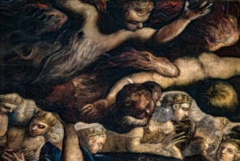 Le Paradis de Tintoret, les Chérubins et Séraphins, au Palais des Doges de Venise