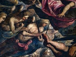 Le Paradis de Tintoret, Chérubins et Séraphins, au Palais des Doges de Venise