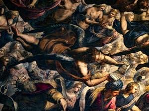 Le Paradis de Tintoret, les Chérubins et Séraphins ainsi que les Rois David et Salomon, au Palais des Doges de Venise