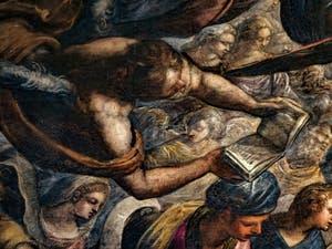 Le Paradis de Tintoret, les anges Chérubins et Séraphins et le Roi Salomon, au Palais des Doges de Venise