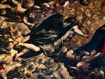 Le Paradis de Tintoret, l'Archange Gabriel, au Palais des Doges de Venise