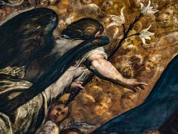 Le Paradis de Tintoret, l'Archange Gabriel au Palais des Doges de Venise