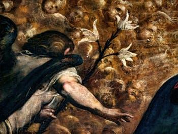 Le Paradis de Tintoret, Archange Gabriel, au Palais des Doges de Venise