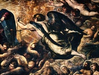 L'Archange Michel dans le Paradis du Tintoret au Palais des Doges de Venise