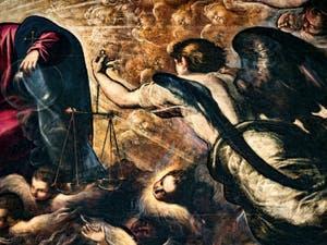 L'Archange Michel dans le Paradis de Tintoret au Palais des Doges de Venise