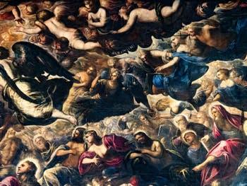 Le Paradis de Tintoret, Anges Séraphins et Trônes, au Palais des Doges de Venise