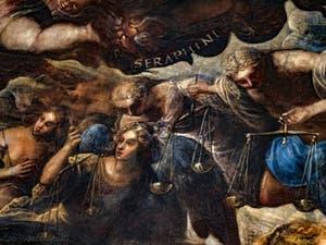 Le Paradis de Tintoret, les anges Séraphins et les Trônes, au Palais des Doges de Venise