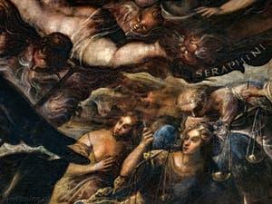 Le Paradis de Tintoret, les Anges Trônes et Séraphins au Palais des Doges de Venise