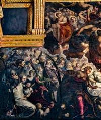 Le Paradis de Tintoret, Sainte-Barbe, Sainte-Justine, Saint-Dominique, Saint-François d'Assise et Saint-Antoine de Padoue au Palais des Doges de Venise