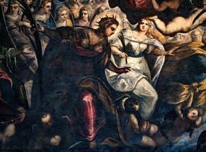 Le Paradis de Tintoret, Sainte-Justine et Sainte-Lucie au Palais des Doges de Venise